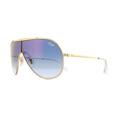 45d82088dd Ray-Ban Sunglasses Wings RB3597 001 X0 Gold Blue Gradient Mirror