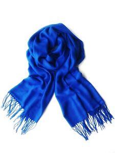 Turkish-Pashmina-Scarf-100-Viscose-Plain-Wrap-Shawl-Stole-Scarf-ROYAL-BLUE