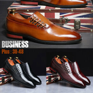 Business-Dress-Pointed-Toe-Leather-Shoes-Tuxedo-Formal-Party-Men-Casual-Oxfords