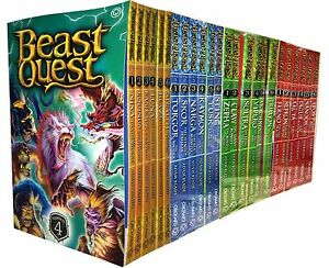 Beast-Quest-Series-1-4-24-Books-Young-Adult-Collection-Paperback-By-Adam-Blade