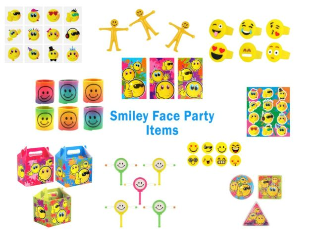 20 X Stretchy Smiley Men Party Bags Fillers