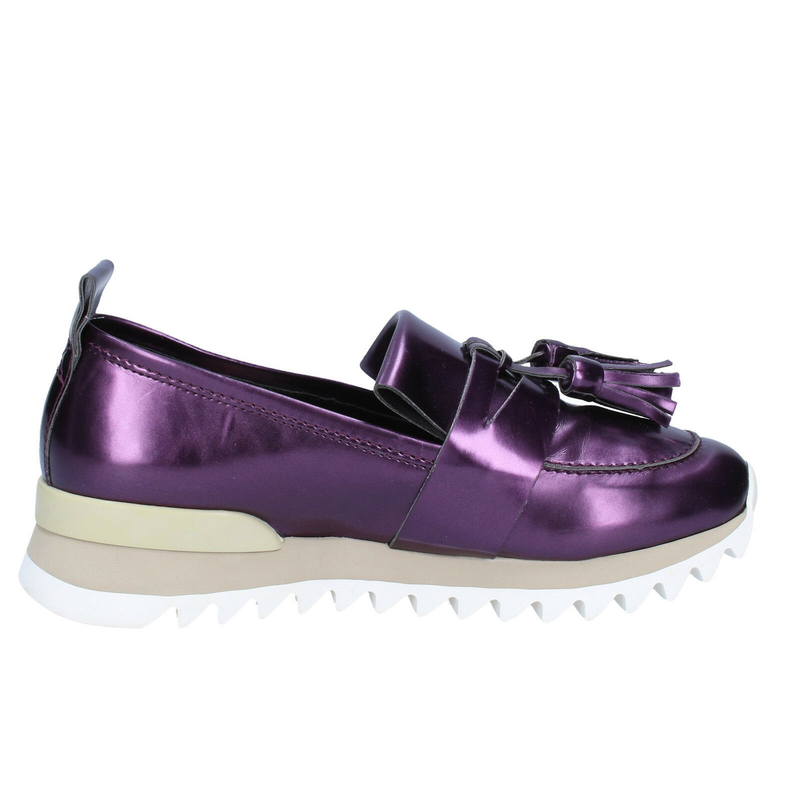 Womens shoes MY MY MY GREY MER 3 (EU 36) moccasins purple leather BX37-36 6b97e6