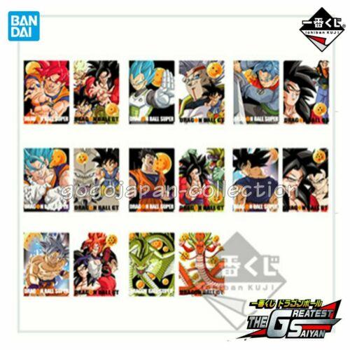 Banpresto Ichiban Kuji F Dragon Ball THE GREATEST SAIYAN Clear File Set of 8