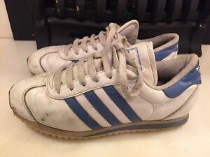 Dettagli su Da Donna Adidas Originals Paese Ripple in pelle bianco TG UK 5  2001 vintage- mostra il titolo originale