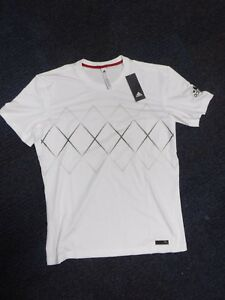 7fe264b3 NEW Adidas Barricade Tee Men White Black T-Shirt CE1389 Size L | eBay