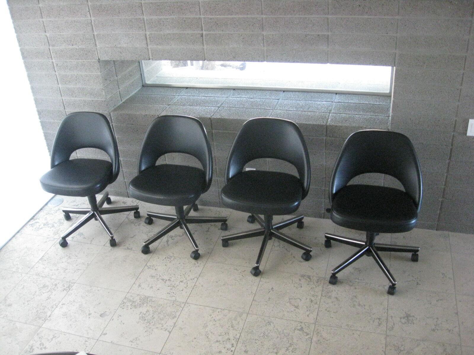 Knoll 4 Saarinen Executive Armless Chairs Barcelona Eames Mies Van Der Rohe