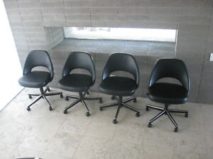 van der rohe furniture. Image Is Loading Knoll-4-Saarinen-Executive-Armless-Chairs-Barcelona-Eames- Van Der Rohe Furniture