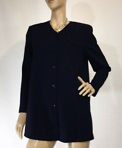 WEISS-AUSTRALIA-SIZE-10-AS-NEW-NAVY-BLUE-LONG-SLEEVE-BUTTON-DOWN-JACKET-TOP