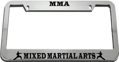 Mma Mixed Martial Arts License Plate Frame Tag Holder