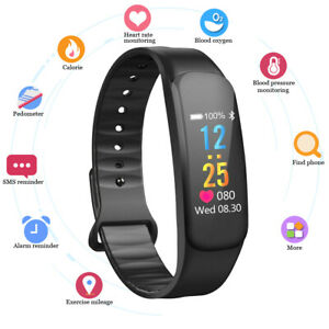 Smartwatch Bluetooth Armbanduhr Schrittzähler Pulsuhr Sport Fitness Tracker DE