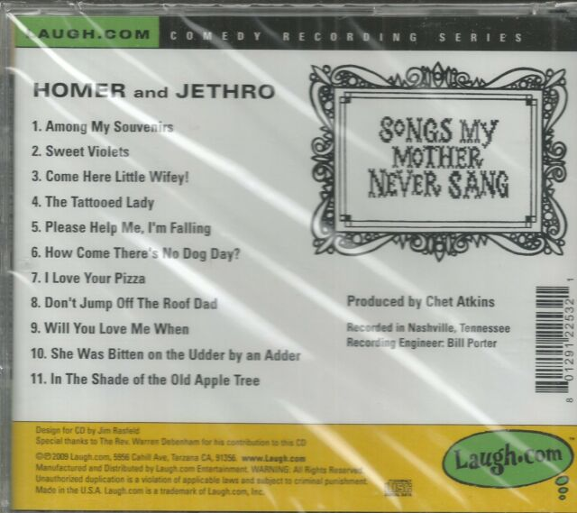 Homer and Jethro - Songs My Mother Never Sang