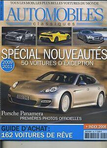 AUTOMOBILES-CLASSIQUES-n-180-JANVIER-2009-PORSCHE-PANAMERA-50-NOUVEAUTES