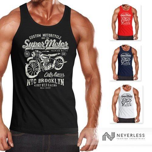Hommes tank top Biker shirt moto super moteur rétro vintage slimfit Neverless