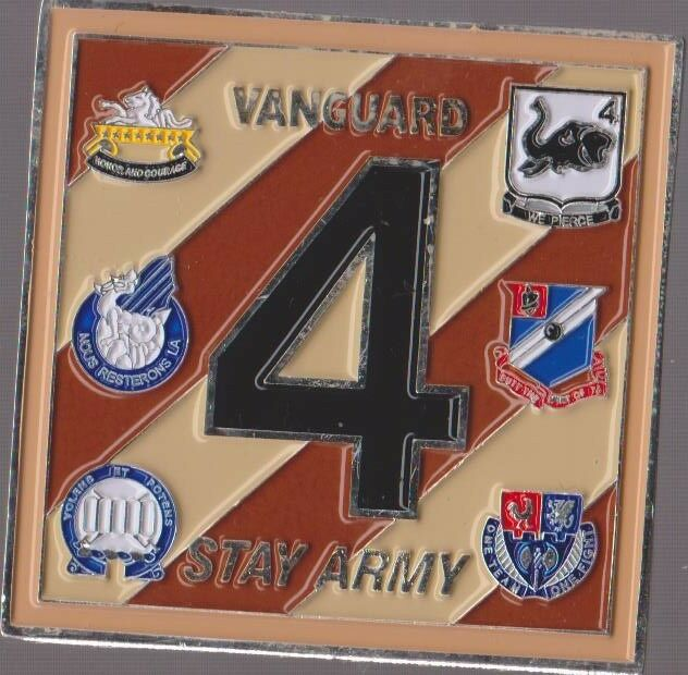 Vanguard 4 Stay Army Oath Challenge Coin 2
