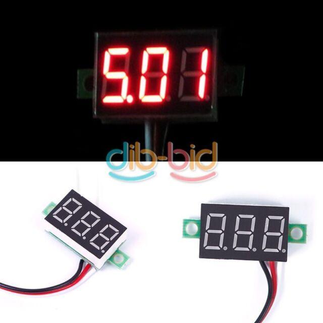 0-30V Red LED Display Digital Voltage Voltmeter Panel Motor Motorcycle 02 ERUS