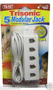 5-Way-Telephone-Phone-Jack-Line-Plug-Outlet-Socket-Splitter-Adapter