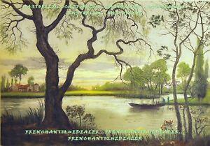 GRAVURE-AQUATINTE-signee-paysage-de-marais-debut-20e