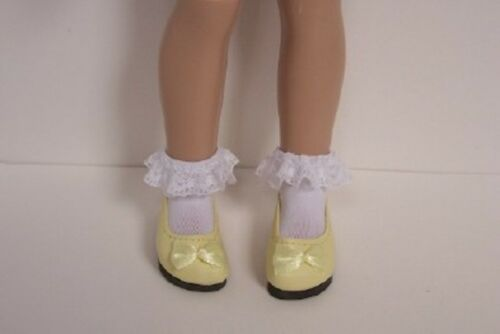 "Debs YELLOW SlipOn Princess Flats w//Bow Doll Shoes For 12/"" Helen Kish Bethany"