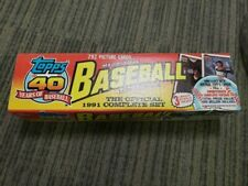 1991 Topps Baseball Factory Complete Set 792 Cards 40th Anniversary