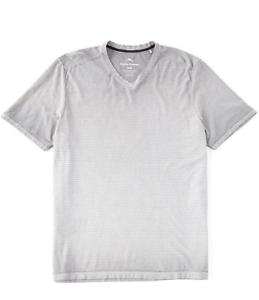 Men-039-s-Sz-S-Tommy-Bahama-Cirrus-Coast-V-Neck-Short-Sleeve-Shirt-Bala-Shark-Gray