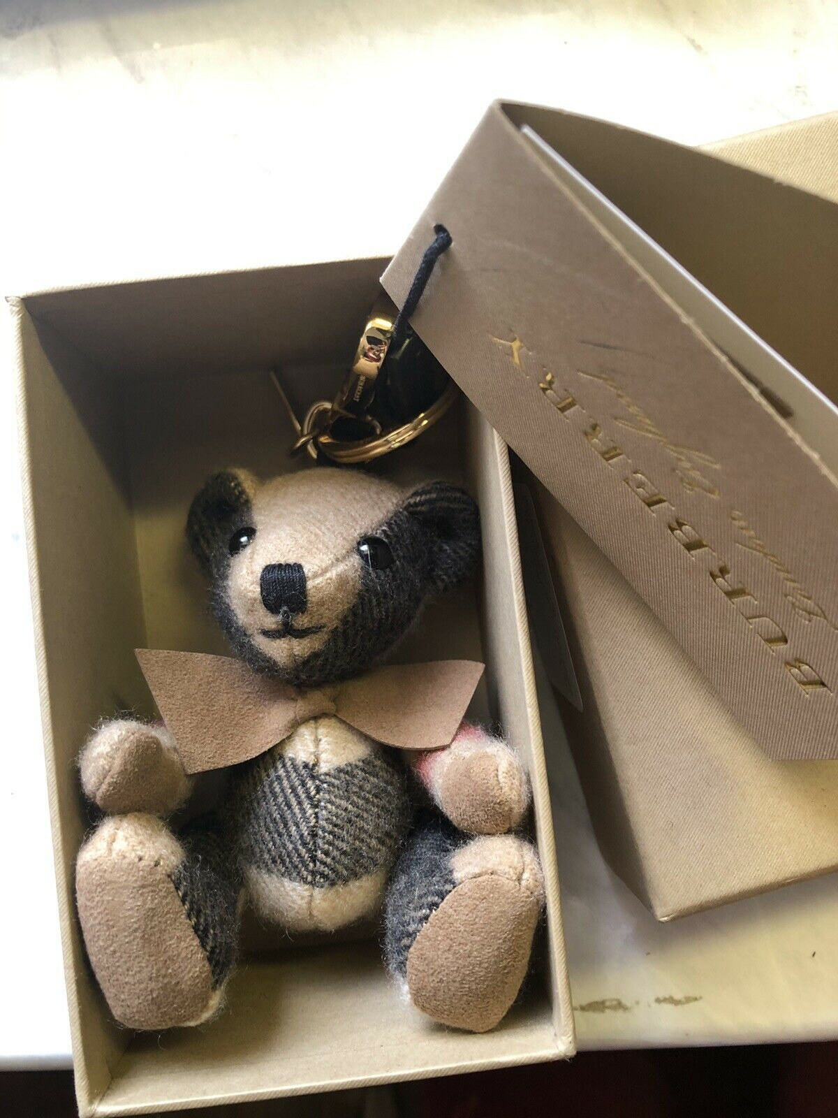 wholesale dealer low cost best place NWT Auth Burberry Thomas Check Plaid Teddy Bear Key Chain Bag ...