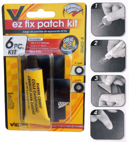 3x Easy Fix Bicycle Bike Flat Tire Tube Repair Patch Kit Rubber Cement Patches