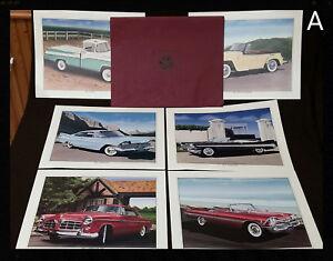 Vintage-Chrysler-Dodge-Plymouth-Jeepster-Dealer-Set-of-6-Art-Prints-1950s-Model