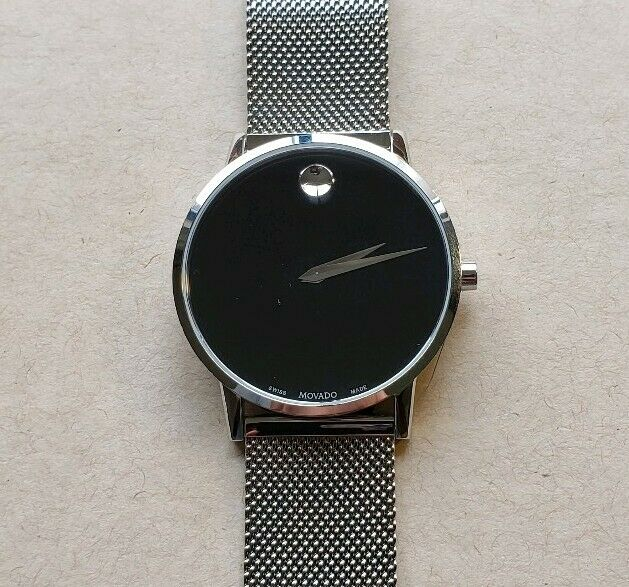 dbc7820ab Movado Men's Swiss Museum Classic Stainless Steel Mesh Bracelet Watch 40mm  for sale online | eBay