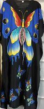 Women's New Butterfly print Long kaftan dress african style Free size 12 to 24