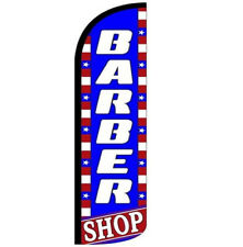 Barber Shop Windless Swooper Flag 3x115 Ft Tall Banner Sign Bz