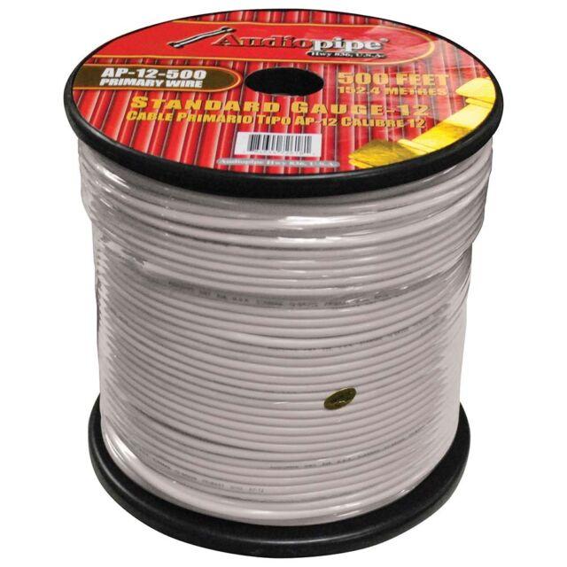 Nippon ap12500wh 12 Gauge 152m PRIMARIO cable blanco