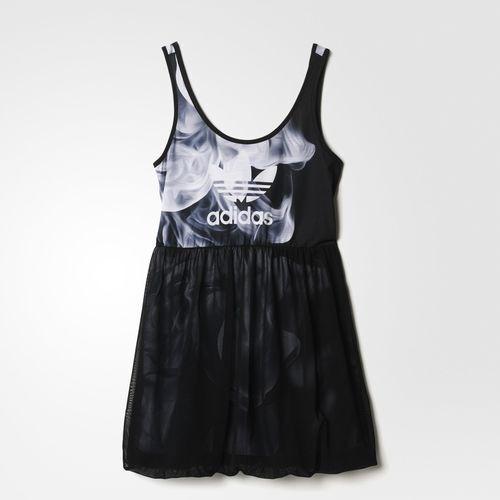 Adidas Women's Rita Ora White Smoke Tank Dress Size Medium FREE SHIPPING S23566