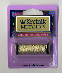 Kreinik-Metallic-Thread-12-Yard-Spool-of-3232-Brazilianite-Very-Fine-4-Braid