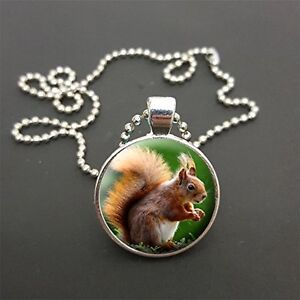 Squirrel pendant on a 18 or any size ball chain necklace birthday image is loading squirrel pendant on a 18 034 or any aloadofball Image collections