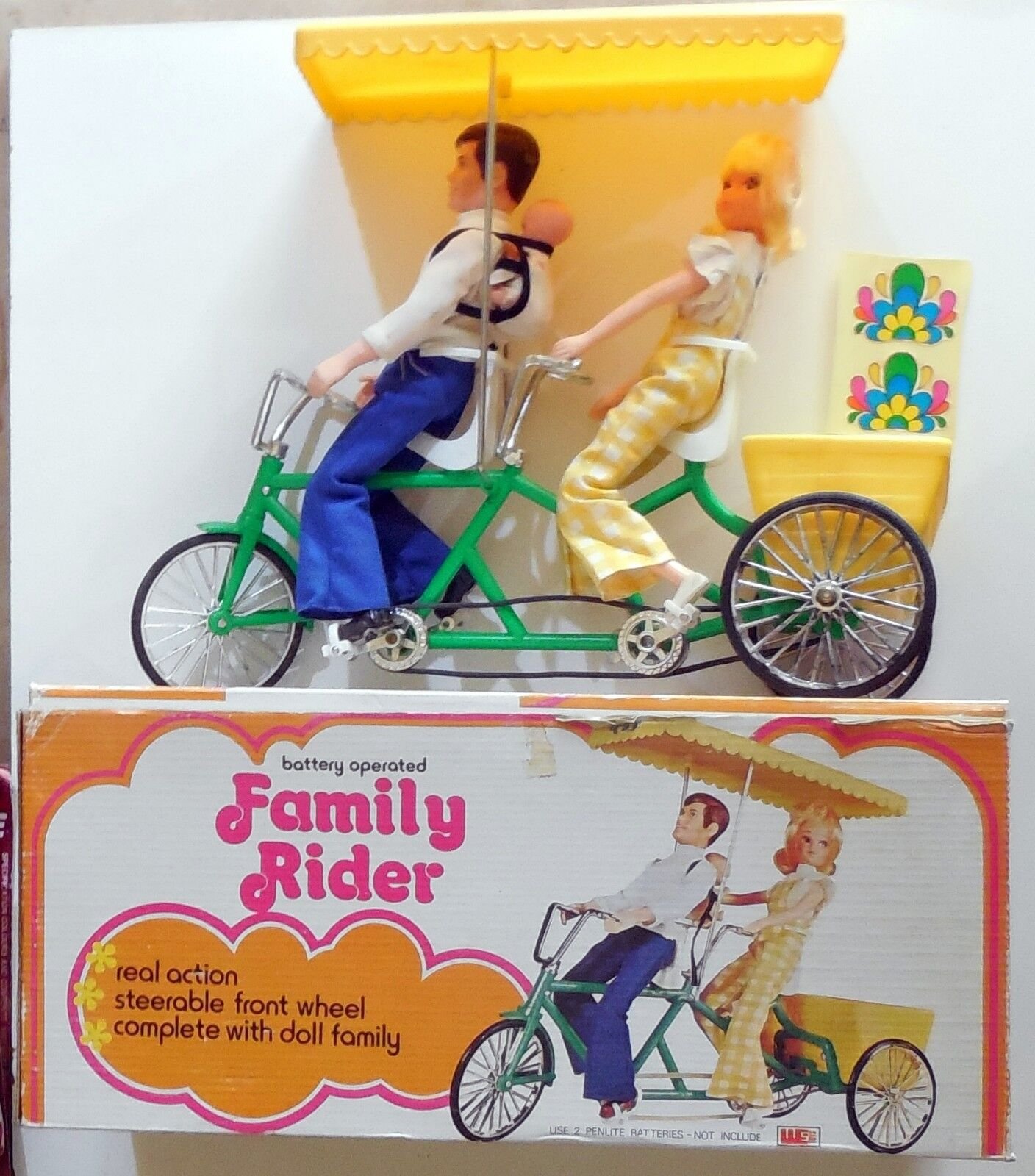 VINTAGE 70s TOY DOLL BATTERY OPERATED FAMILY RIDER BOXED NO BARBIE TANYA