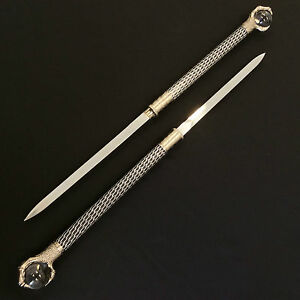 High-Quality-Dragon-Claw-Double-Blade-Daggers-with-Crystal-Balls