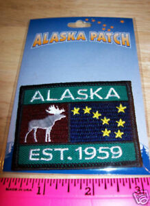 Embroidered-Alaska-Patch-Alaska-est-1959-iron-on-new-in-package