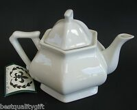 Porcellana De Paris White Porcelain Coffee,tea Pot 3 Cups,24 Oz.