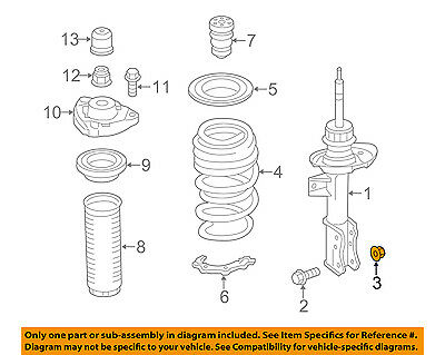 CHRYSLER OEM Front Suspension-Lower Ball Joint Nut 6507676AA