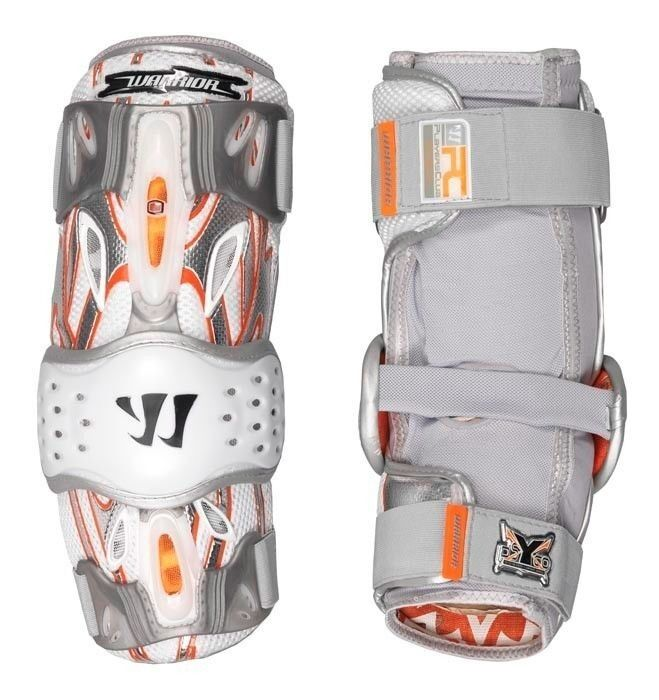 New Warrior Lacrosse Players Club Arm Elbow Guard 7.0 Ultimate Fit Large White