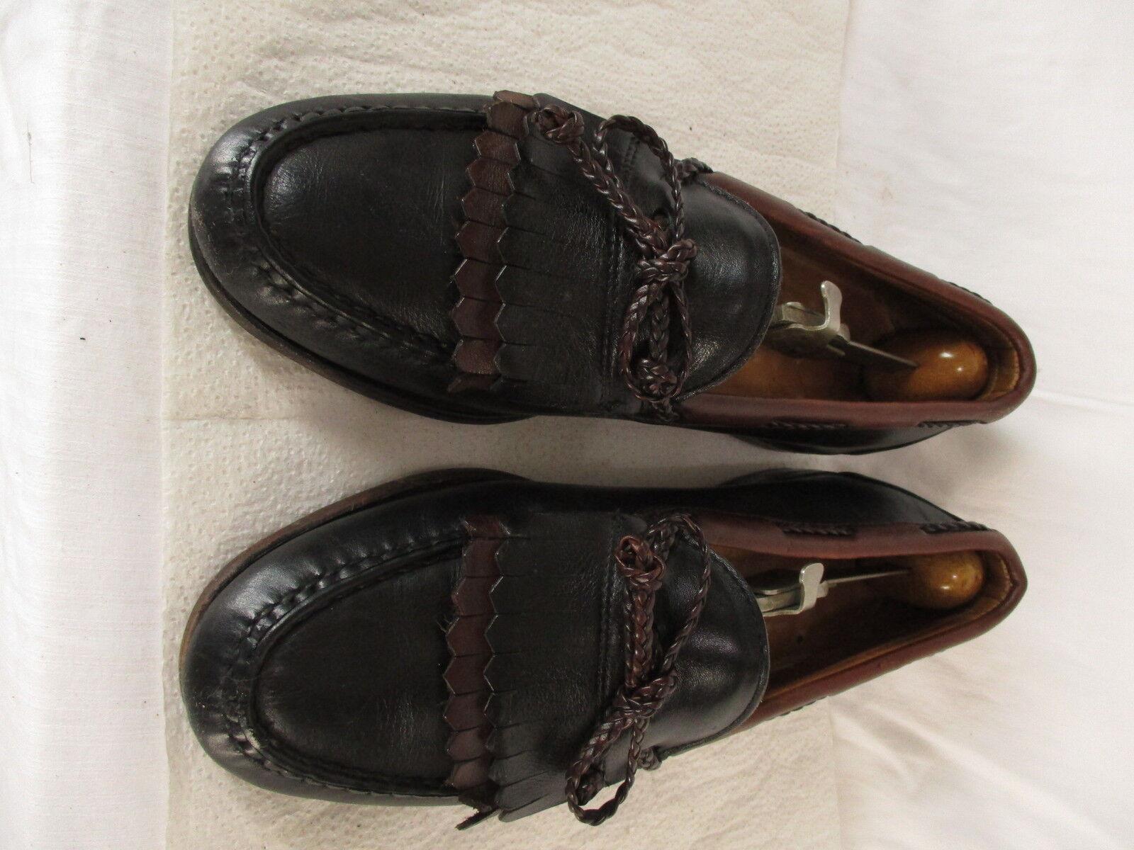 Allen Edmonds Woodstock Mens Black Kiltie Bow Loafers 9.5C