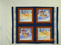 Wolf Pack Pillow Panels Or Quilt Blocks Four 16 Blocks One Yard Cut Mdg