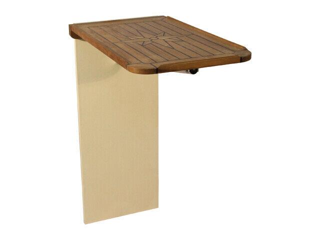 LH10004  EUDE - Teak Tischplatte für die Wandmontage 38 x 60, für Stiefel, Camping