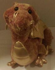 "16"" Topaz the Dragon Douglas Gold Dragon Plush With Sparkly Wings"