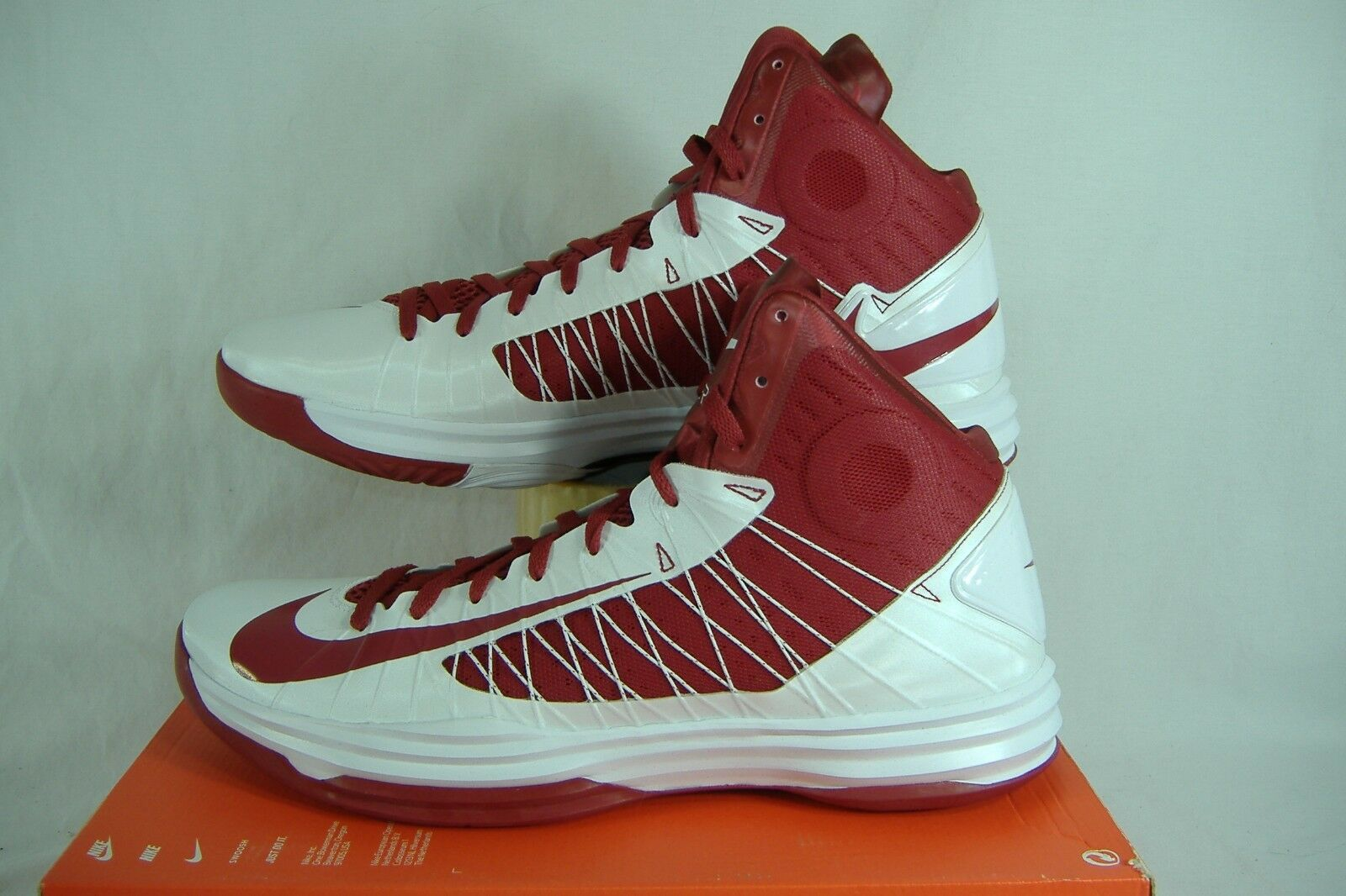 New Mens 18 NIKE Hyperdunk TB White Crimson Red High Top Basketball Shoes