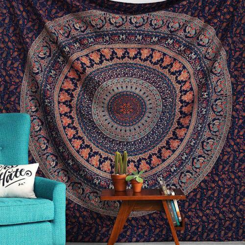 Indian Mandala Tapestry Large Wall Hanging Hippie Bohemian Bedspread Throw Towel