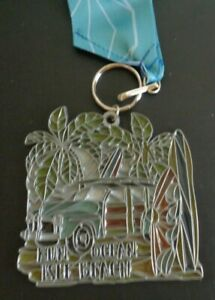 RUN OCEAN BEACH 5K Running Race 2020 Medal NORTH CAROLINA Free Shipping