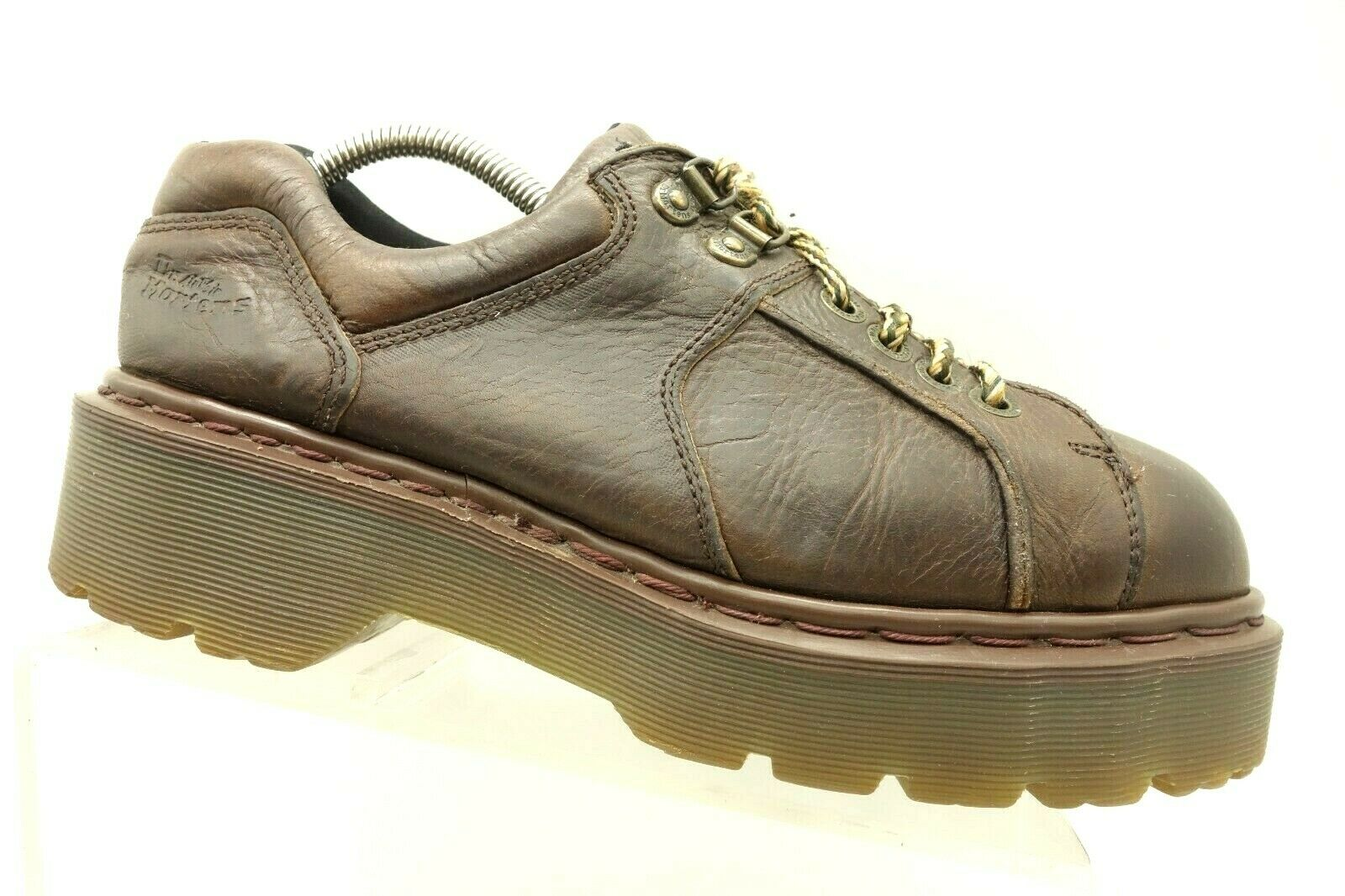 Dr Martens England Brown Leather Casual Oxfords shoes shoes shoes Women's 8 UK   US 10 753bea
