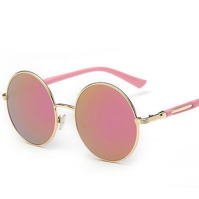 Vintage Round Frame Women Men Retro Mirror Sunglasses Eyewear Shades Eye Glasses
