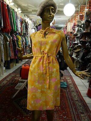 Arnel Shift Abito Fiori M 60er Abito Estivo True Vintage Floral 60s Mod Dress-mostra Il Titolo Originale Squisito Artigianato;